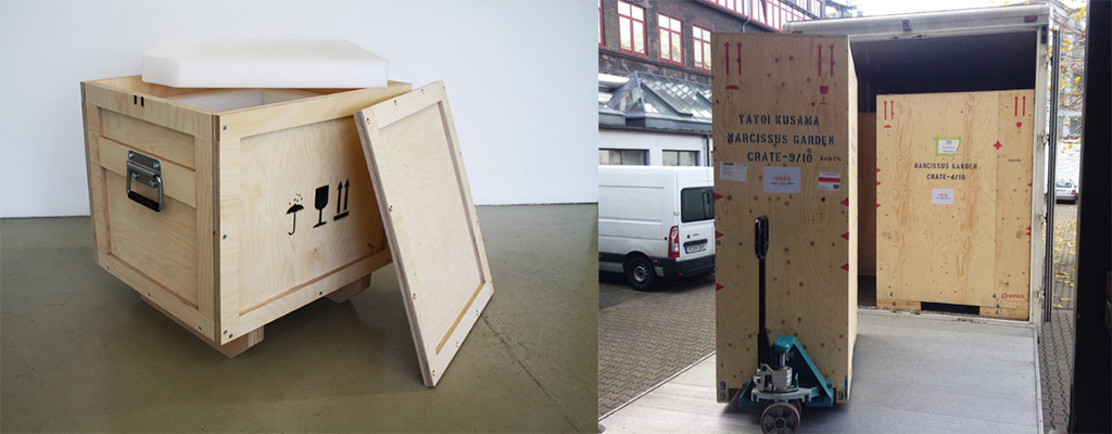 Fine Art Transport Crates travel frames - Darbyshire