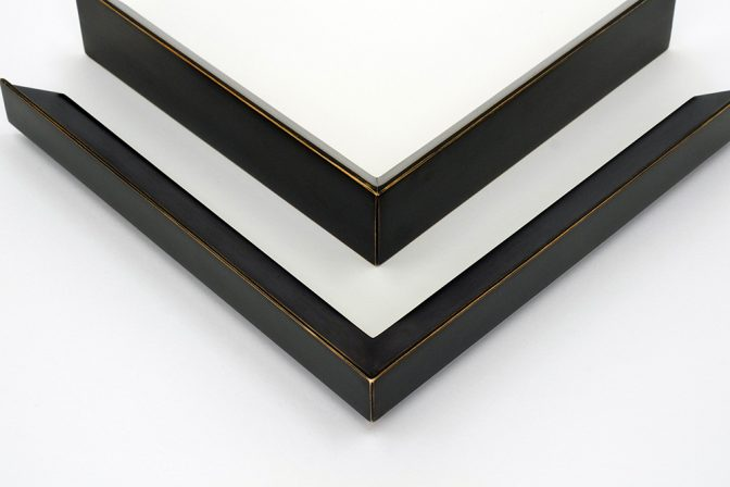 Piano Black Ochre picture frame